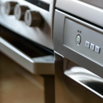 close up of household appliances
